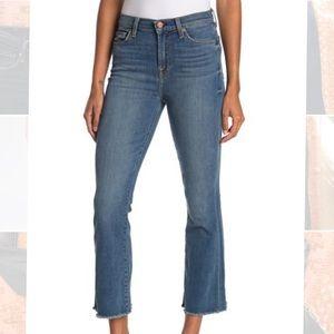7 For All Man Kind High Waist Slim Kick Crop Jeans
